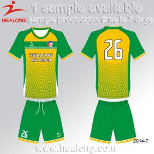 Healong Hot Sales Soccer Uniform Design Blue Custaom Jersey Shirt Soccer Unifrom pictures & photos