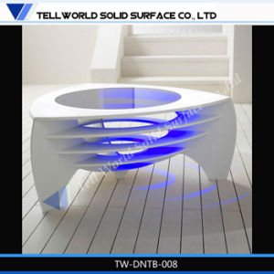 Tw New Design Artificial Stone LED Light Coffee Table/Tea Table for Home Office Furniture pictures & photos