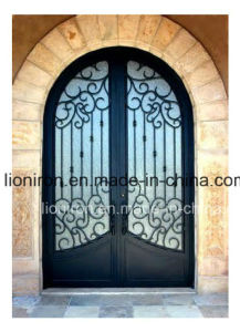 Artistical Hand-Forged Round Top Iron Front Entry Doors pictures & photos