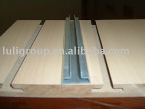 T Type Slot MDF Board with Aluminum Strips pictures & photos