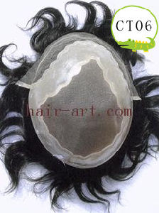 Lace & Injected Toupee with Mono & Common Base & Scalloped PU pictures & photos