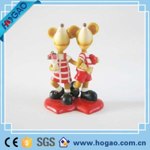 Polyresin Cartoon Wedding Love Mouse Figurine as Gifts pictures & photos