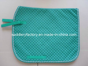 Equestrian Polycotton Dressage Horse Saddle Pad (SMS4133) pictures & photos