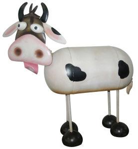 Metal Cow as Garden Ornament Nj15111