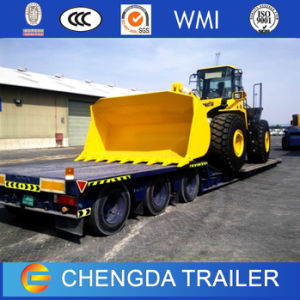 Transport Heavy Machine Excavator Lowbed Gooseneck Trailer for Construction Industry pictures & photos