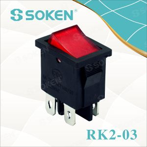 Rk2-03 Dpst Kema Keur Lighting Rocker Switch T85 10A 250VAC pictures & photos