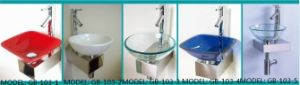 Glass Basin Vanity with Silver Mirror pictures & photos