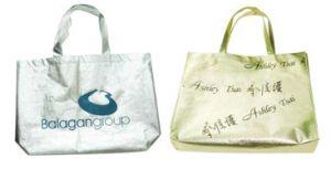 Custom Non Woven Shopping Tote Bag, Shine Golden Silver Film pictures & photos