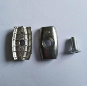 Double Hole Zinc Alloy Round Wire Rope Clip pictures & photos