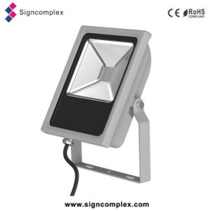 Industry Energy-Saving Waterproof IP65 Slim COB LED Flood Light RGB pictures & photos