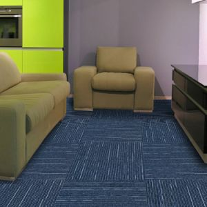 Rain -1/10 Gauge Office/Hotel/Home Carpet High &. Low Loop Jacquard Carpet Tile with Eco-Bitumen Backing pictures & photos