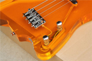 Hanhai 4 Strings Orange Electric Bass Guitar with Acrylic Glass Body pictures & photos