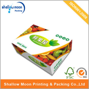 Custom Portable Handle Carton Fruit Packaging Box Corrugated Shipping Boxes pictures & photos