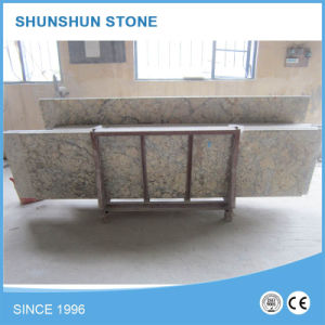 Golden Granite & Marble Kithen Countertop for Hotel pictures & photos