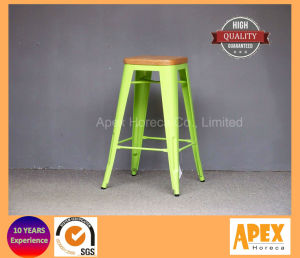 Tolix Bar Stool Restaurant Furniture Industral Bar Stool with Wooden Top pictures & photos