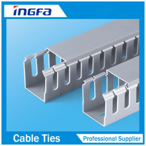 Slotted PVC Channel Cable Trunking pictures & photos