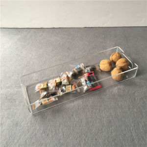 Factory Made Clear Color Acrylic Home Amenity Long Tray pictures & photos