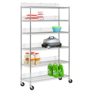 NSF 6 Shelf Stainless Steel Shop Store Display Storage Wire Rack Shelving 1200 X 450 pictures & photos