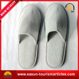 Custom Terry Toweling Bath Slippers for Airline pictures & photos