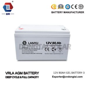 80ah Gel Type 12V Battery for Solar Household System pictures & photos