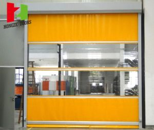 Automatic Radar Sensor Fast Moving Workshop Door with High Quality Fabric Curtain pictures & photos