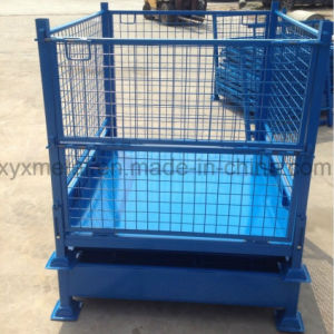 Exported Collapsible Pallet Stillage Wire Mesh Cage Made in China pictures & photos
