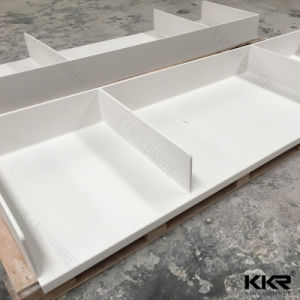 Artificial Stone White Solid Surface Vanity for Bathroom pictures & photos
