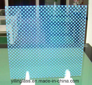 Silk Screen Printed Glass with Pattern DOT, Line, Square, Diamond pictures & photos