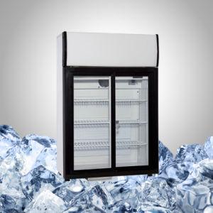 Slide Door Countertop Refrigerator for Drink pictures & photos