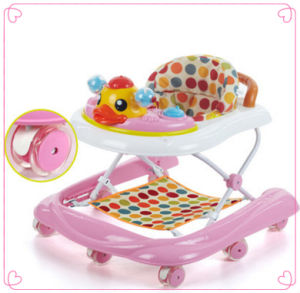 Pink 2017 Foldable Baby Walker with Toys pictures & photos