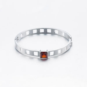 2017 Fashion Square Ruby Brass Bangle pictures & photos