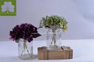 Wholesale New Item Hydrangea in Glass Pot for Home Deco pictures & photos
