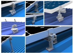 Manufacture Solar System Panel Racking Aluminum Brackets pictures & photos