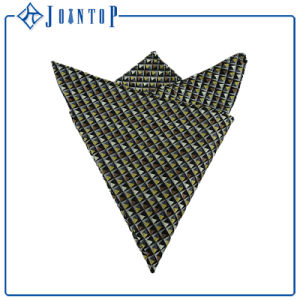 New Design Silk Twill Full Woven Pocket Square pictures & photos