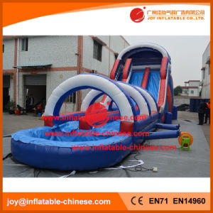 60′ Giant Double Lanes Inflatable Water Slide with Pool (T11-100) pictures & photos