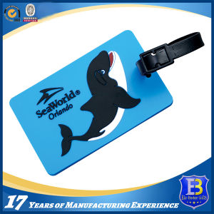 Custom Rubberized PVC Luggage Tag pictures & photos