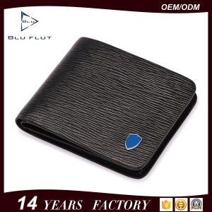 Men′s Formal Business Wear Genuine Embossed Leather Card Holder Wallet pictures & photos