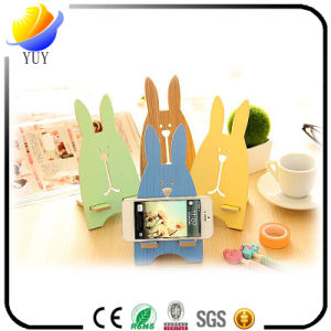 New Design Wooden with Metal Sticky Finger Ring Portable Stand Mobile Phone Stand pictures & photos