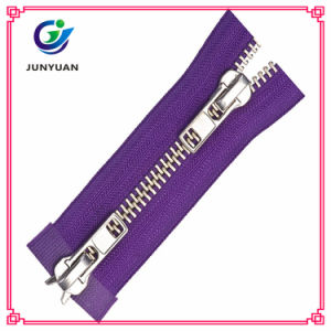 Fashion Metal Silver Y Teeth Zipper Supplier Double Sides pictures & photos