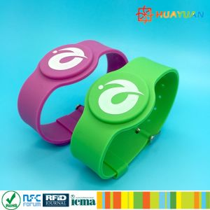 E-Payment MIFARE DESFire EV1 4K rubber silicone RFID watchband pictures & photos