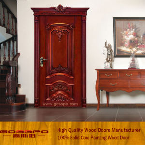 Solid Wood Door Interior Solid Wooden Room Door (GSP2-002) pictures & photos