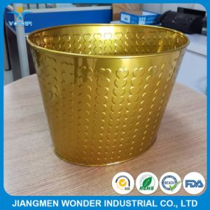 Replace of Electroplating Chrome Effect Epoxy Polyester Gold Powder Coating pictures & photos
