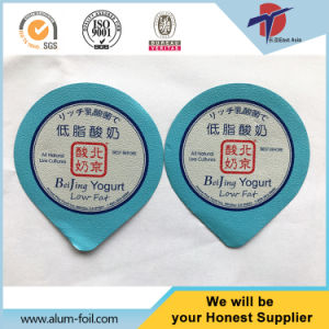 Embossed Aluminium Foil Lids with PS Heat Seal pictures & photos