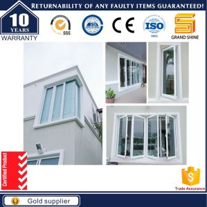 Australia Standard Aluminium Frame Vertical Opening Window Double Glass pictures & photos