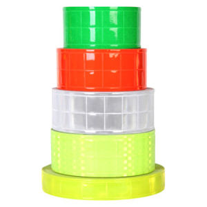 Yellow PVC Reflective Tape, 200-300CPL Reflective Coefficient/for High Visibility Safety Garments pictures & photos