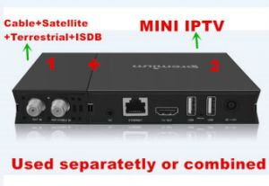 Ui Design TV Digital Box Hybird DVB and IPTV Set Top Box pictures & photos
