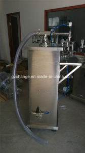 Semi Auto Shampoo Detergent Lotion Cream Filling Machine pictures & photos