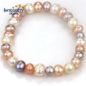 Natural Women Pearl Bracelets 8mm Grade a Potaoto Multi -Color Simple Pearl Bracelet