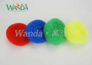Kitchen Cleaning Tools Mesh Scrubber Cleaning Ball Plastic Scourer pictures & photos