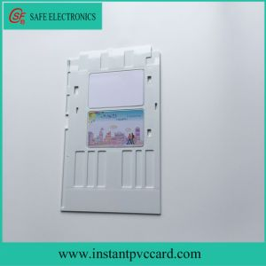 White Color Inkjet PVC ID Card Tray for Epson L800 Printer pictures & photos